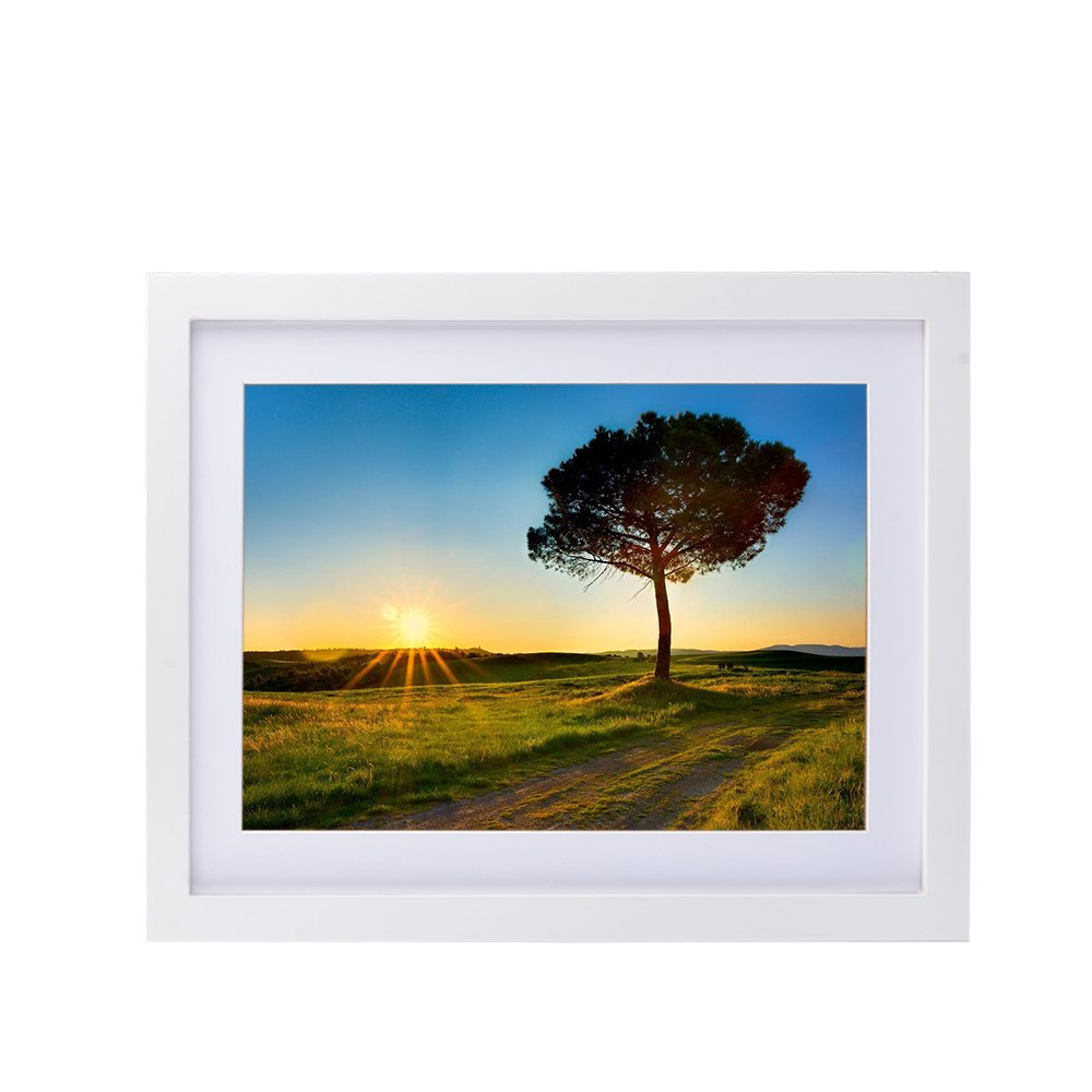 11x14 Wall Hanging Picture Frame, Alotpower Photo Frame Made to Display Loved Pictures 8x10 with Mat