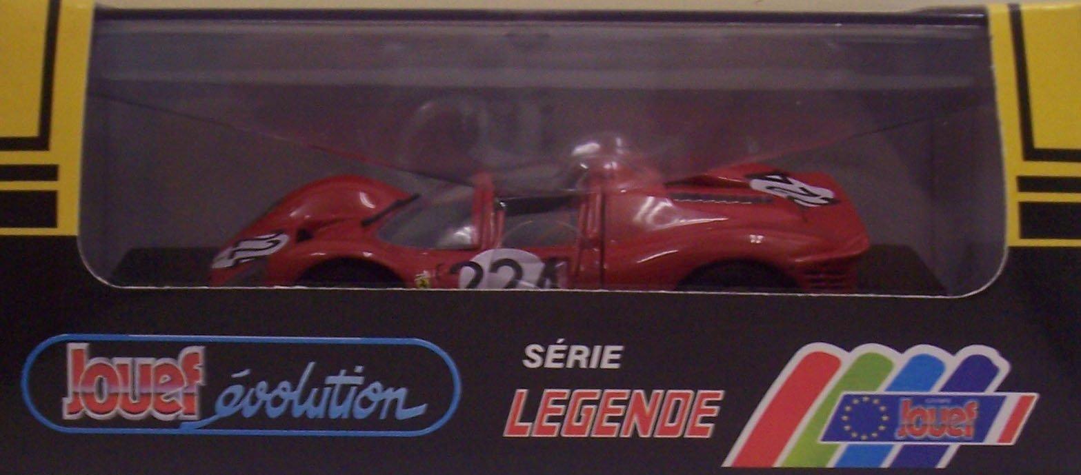 Jouef 1031 Ferrari 330 P4 #224 - 1967 Targa Florio - Red - Legend Series - 1:43 Scale Diecast