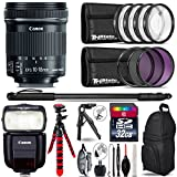 Canon 10-18mm IS STM Lens + Canon Speedlite 430EX III-RT + UV-CPL-FLD Filters + Macro Filter Kit + 72'' Photo/Video Monopod + Table-Top-Tripod + 32GB Class 10 Memory Card - International Version