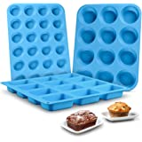 Muffin Pan Silicone Brownie Molds - Cupcake Pan Baking Silicone Molds Food Grade Silicone BPA Free Brioche Pan Pinch Test App