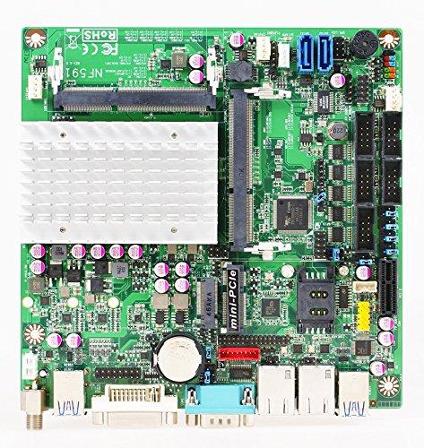 Dual Celeron Motherboard (Jetway NF591-3160 Intel Celeron N3160 Dual LAN Industrial Mini-ITX Motherboard)