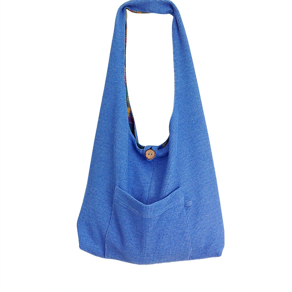 Shoulder Tote Bag with Pockets for Travel- Reversible Lightweight & Durable - Quality Handmade for Lasting Service & Enjoyment