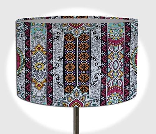 Lampenschirm Handgemacht 40 Cm Durchmesser Aus Stoff Ethnisch Bunt