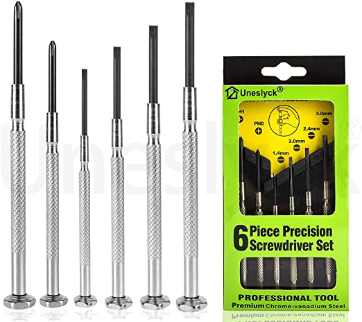 Precision screwdrivers Screwdriver set small  flat and Philips cross NEW in case