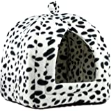 Denny International Pet Cat Dog Fleece Washable Igloo Bed Pyramid Cozy Pets Hut House Travel Basket