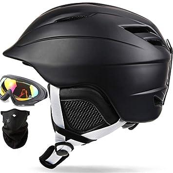 Set de Casco de esquí Gafas/Máscara 2 Regalo Hombre/Mujer Casco de Snowboard