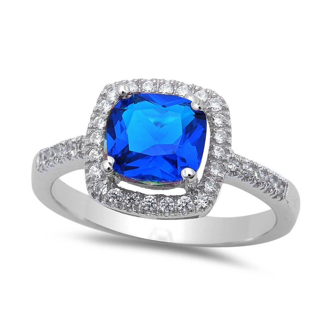 Amazon.com: Vintage Halo acento anillo de compromiso de boda ...