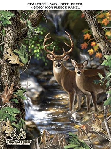 REALTREE DEERS FLEECE FABRIC PANEL- REAL TREE DEERS FLEECE PANEL