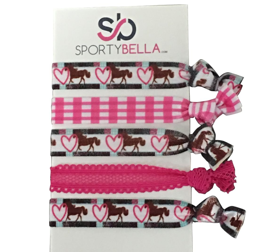 Horse Hair Accessories, Horse Hair Ties, Cowgirl Hair Ties, No Crease Horse Hair Elastics Set, Perfect Gift for Equestrian Infinity Collection