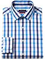 Van Heusen Men's Slim-Fit Flex Collar Stretch Dress Shirt, Royal
