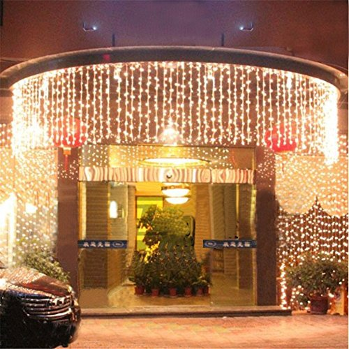 300 Led Window Curtain Icicle Lights Linkable Christmas