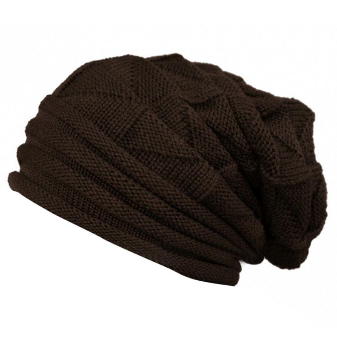 1d0cded5355 Koly® Women s Winter Crochet Hat Wool Knitted Beanie Warm Cap (Beige)   Amazon.co.uk  Clothing