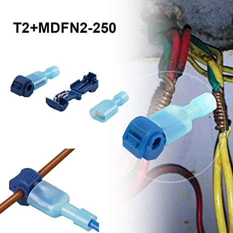 100 Stk Schnellverbinder Sortiment Stromdieb Kabel-Verbinder Abzweigverbinder