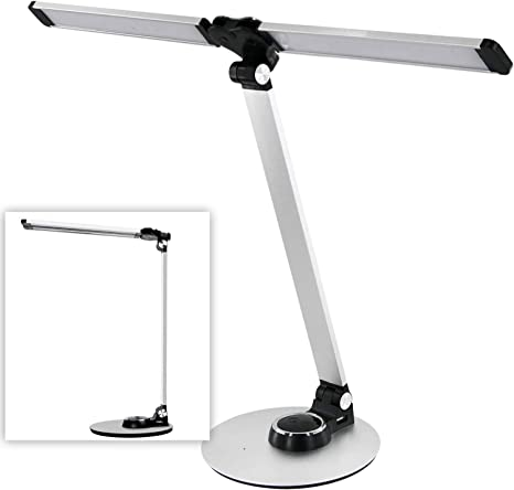 Amazon Com Nuled Dimmable Piano Desk Lamp Foldable 10w Led Bright Cold White Warm White Or Dim Adjustable Table Reading Light W Usb Charging Port Rotatable Aluminum Modern Style Silver 2020 Upgraded Home Improvement