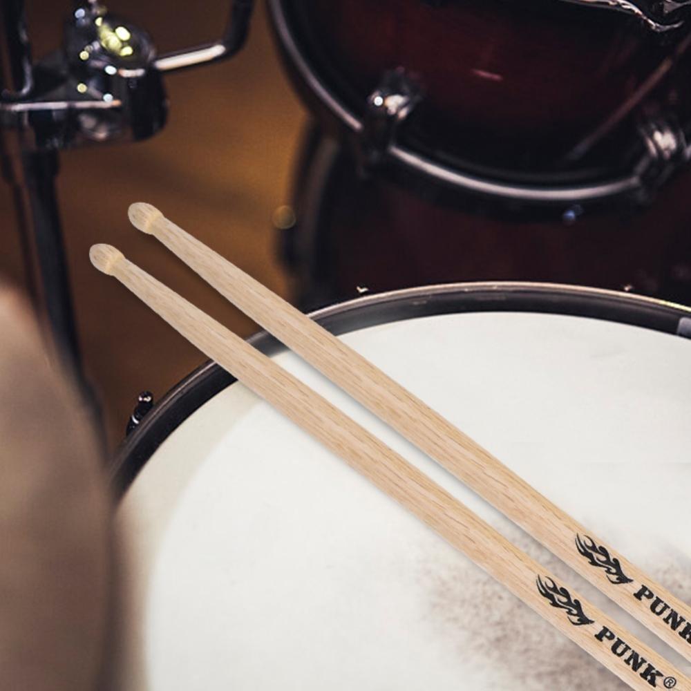 5B 5A:40.6 * 1.4cm Dilwe Madera de Roble Blanco Drop-Shaped Baquetas Palillo de Tambor Instrumentos de Percusi/ón Accesorios 5A 7A
