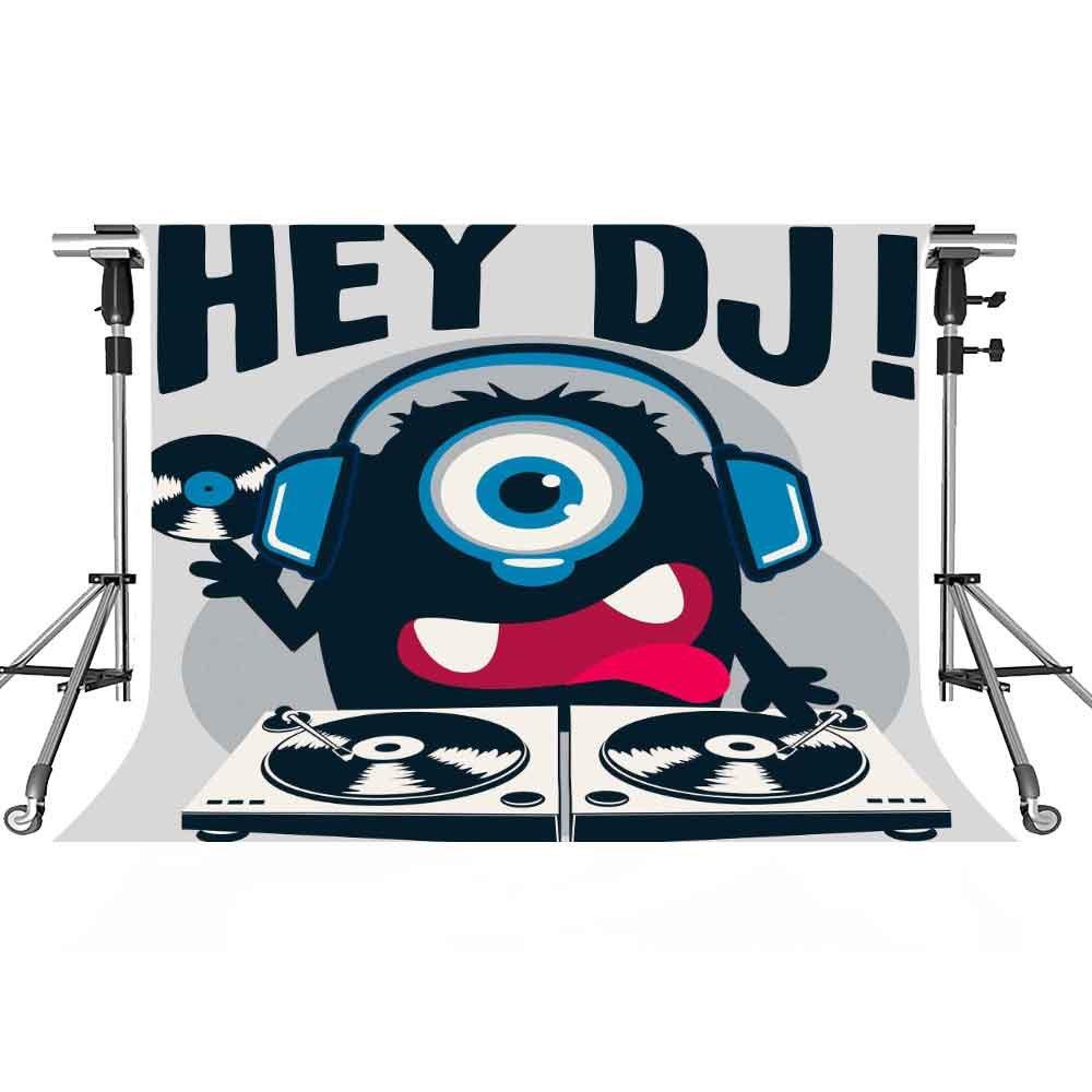 音楽ステージバックドロップCartoon DJ写真背景meetsioy 7 x 5ftテーマパーティー写真ブースYoutube Backdrop pmt383   B07FT2VFRP