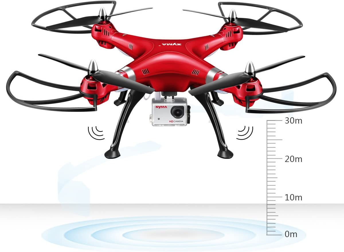 Genuine SYMA X8C RC Quadcopter Drone with 2MP Camera Headless LED Light 3D Roll