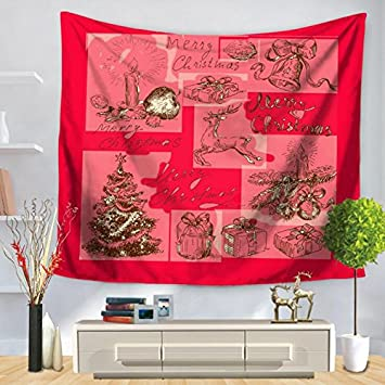 Amazon.com: Merry Christmas Tapestry Wall Blanket-Judy Dre am Cute ...