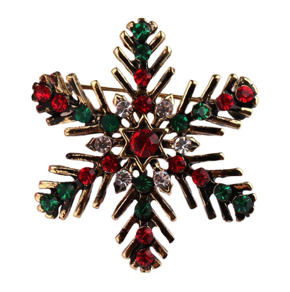 Yodio Christmas Brooch Fashion Personality Rhinestones Winter Style Cute Brooch Fun Little Gift 1PCS