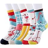 DOBIKULU Womens Grils Cute Animal Socks Dogs Cats Cotton Casual Crew Socks Funny Lovely Pattern