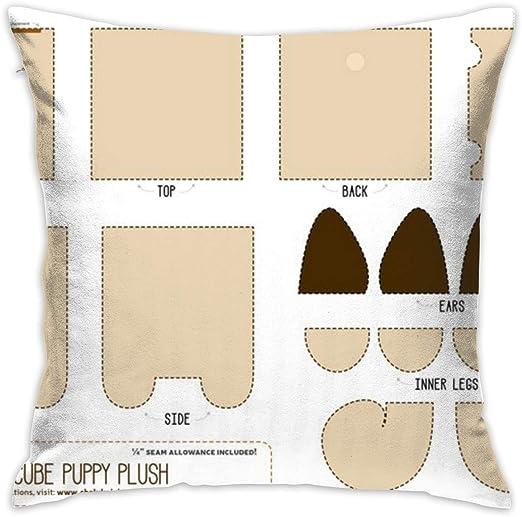 Helen vi - Cojines Decorativos, 45 x 45 cm, Couper U0026 para Coser el Cachorro Pug Cube Plush_27, 100% algodón, decoración de salón, sofá de casa, Oficina, Coche: Amazon.es: Hogar