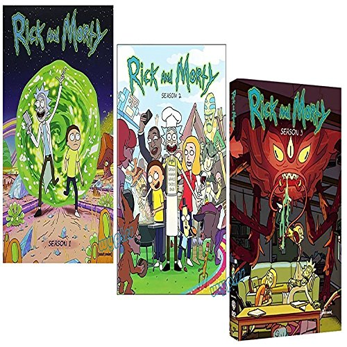 Rick and Morty: Complete Series Seasons 1-3 DVD by Media DVD