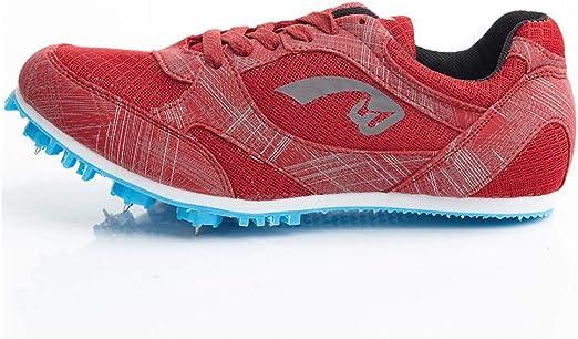 LFLDZ Junior Track & Field Zapatillas, Zapatillas de Correr para Hombre y Mujer, Zapatos de Pista y Campo Profesionales, Zapatillas de Entrenamiento de competición para uñas, Rojo, 37: Amazon.es: Hogar