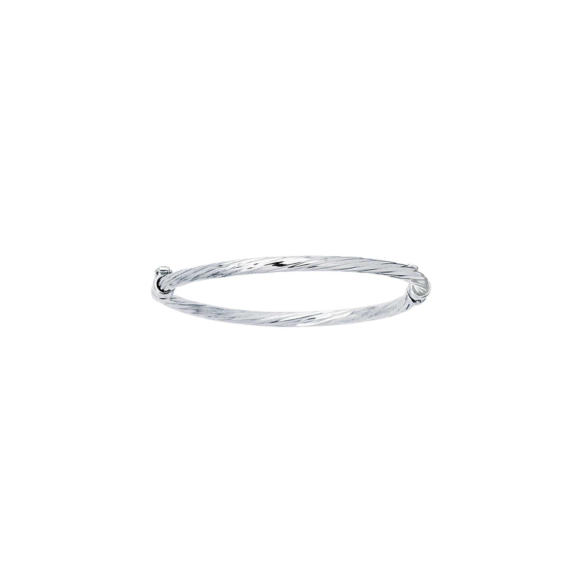 14k Yellow Gold 5.5 Inch Polish Finish Twist Girls Bangle Bracelet by Diamond Sphere (Image #1)