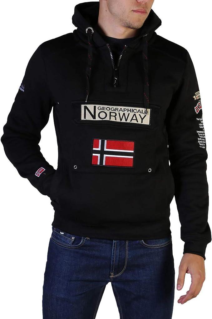 Felpa da Uomo Geographical Norway Gymclass007 Man Nero Colore