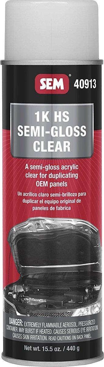SEM 40913 1K HS Semi-Gloss Clear Coat, 14.9 oz