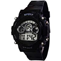 VYAS Digital Seven Light DIAL and Silicon Belt Watch for Kids and Boys