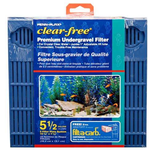 Penn Plax Cfu55Ug Fltr For 5.5 Gallon Aquariums