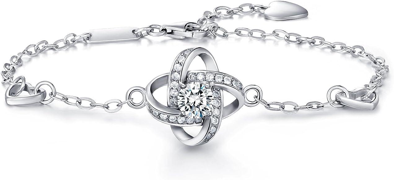 08a57749f4cb1b Christmas Gift Bracelet for women -925 sterling silver Four Leaf Clover  Bracelet for women wish