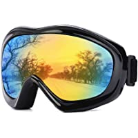 JTENG Gafas de esquí, Snowboard, protección UV, Gafas de esquí, Gafas de Nieve, Gafas de Snowboard, Gafas de Espejo…