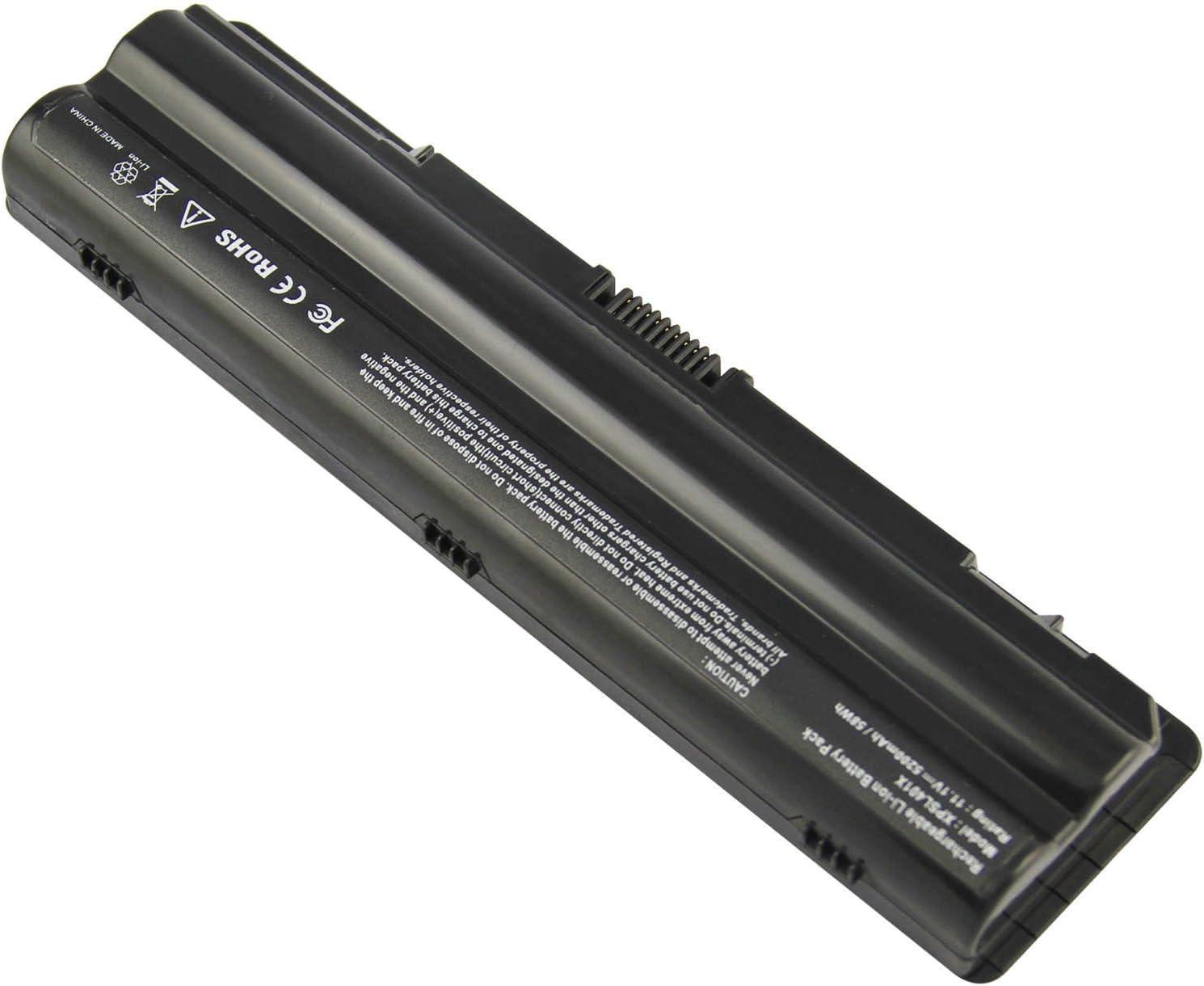 6 Celdas 5200mAh 11.1V Negro DTK Bater/ía de Repuesto para Port/átil for DELL XPS 15 L501x L502x 17 L701x L702x Ordenador