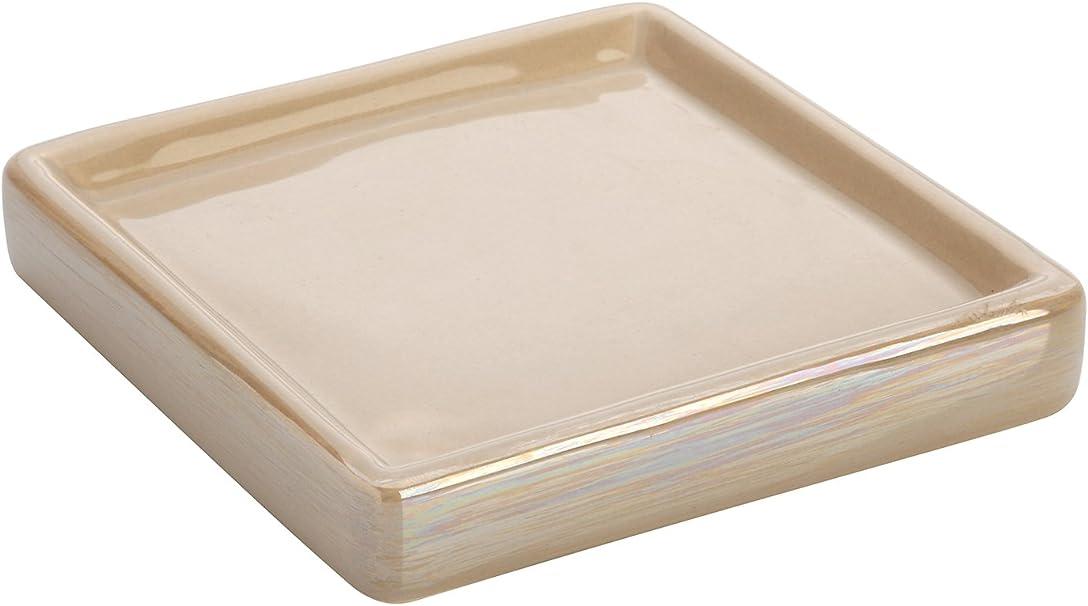 2x12x12 cm Ceramica FERIDRAS Cuba Portasapone Bianco