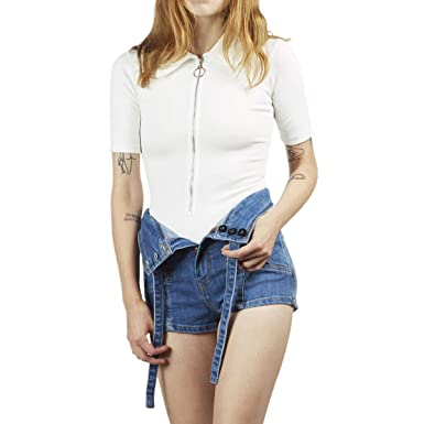 Stoned Immaculate Womens Wonder Years Bodysuit Shirt - White at ... 7704a2aca