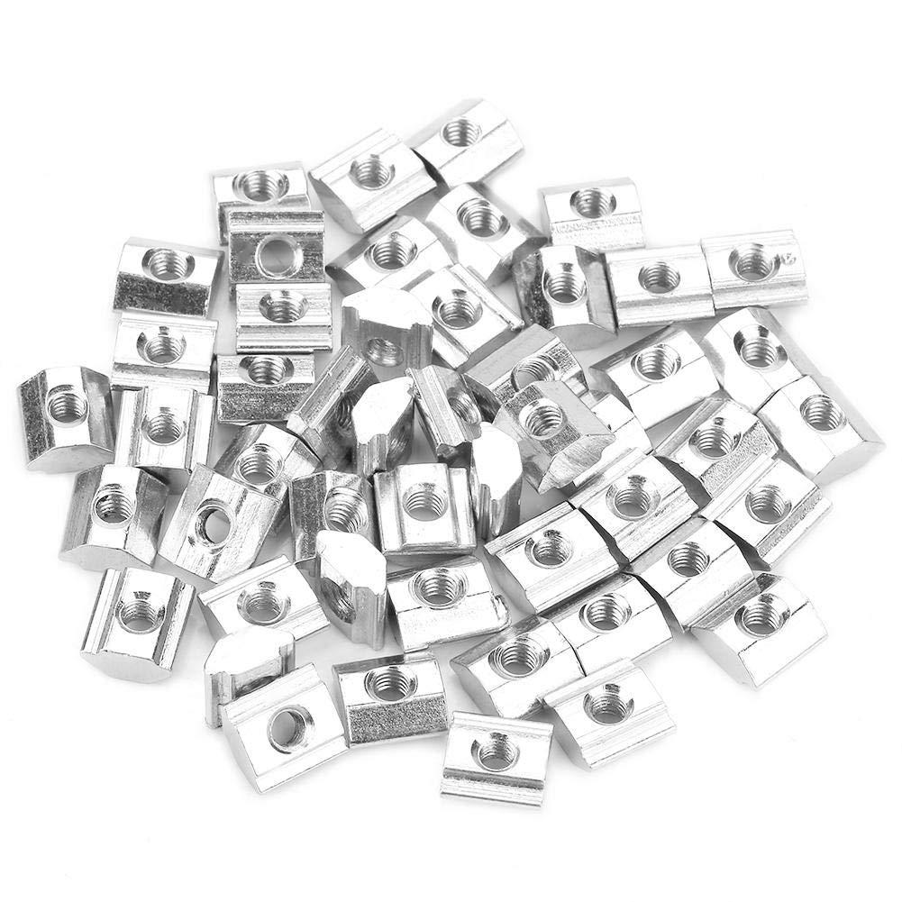 50 tuercas deslizantes en T de acero al carbono para accesorios de perfil de aluminio serie 20 M3 x 10 x 5