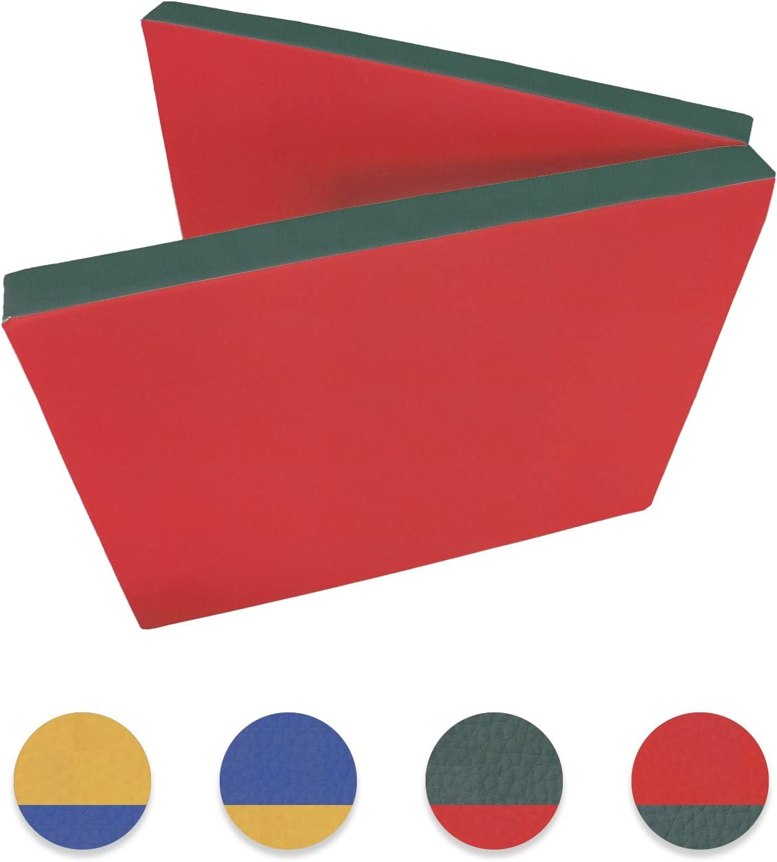Niro Sport colchoneta 200 x 80 x 8 cm Estera de Gimnasia (Sport Matte Entrenamiento – Colchoneta Deportiva Resistente al Agua Plegable, Rojo/Verde: Amazon.es: Deportes y aire libre
