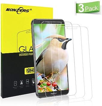 NONZERS Cristal Templado para Huawei Honor 9 Lite,[3 Unidades ...