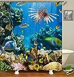 Fish Shower Curtains Bath Accessory Sets Livilan Coral Reef Fish Shower Curtain Set 72