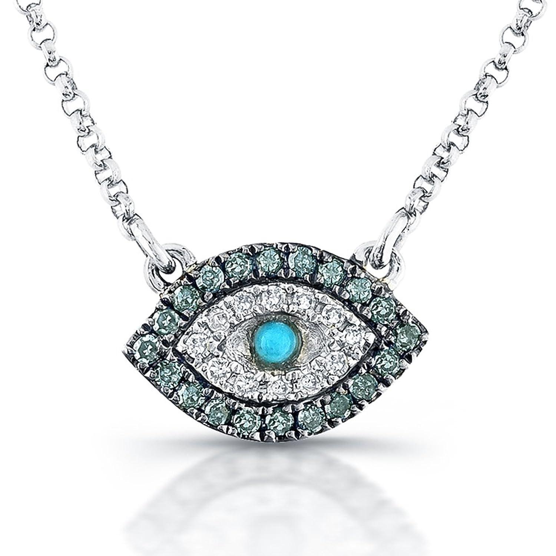 Amazon Victoria Kay 1 5ct White &Treated Blue Diamond Evil