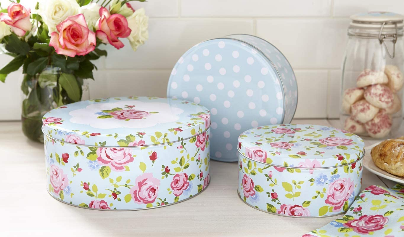 Vintage Floral Cake Tins - Set of 3