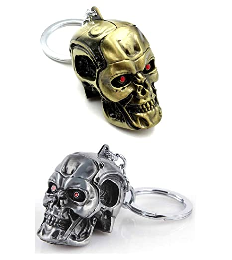detailed look reasonable price affordable price Terminator Porte-clés Skull en métal (Paquet de 2): Amazon ...