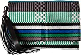 Rebecca Minkoff Women's Serra Fold-Over Clutch Blue Multi One Size
