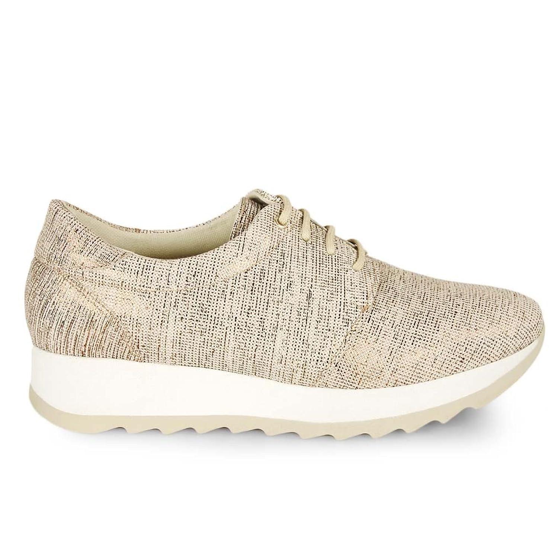 Esther Mendez Sneaker Cordon Grabado Taupe U7Zsf
