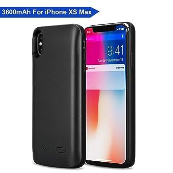 Funda Batería iPhone XS MAX, Mbuynow 3600mAh Batería Externa Recargable 2 en 1 Protector Portátil Carga Funda Batería Power Bank para iPhone XS MAX ...
