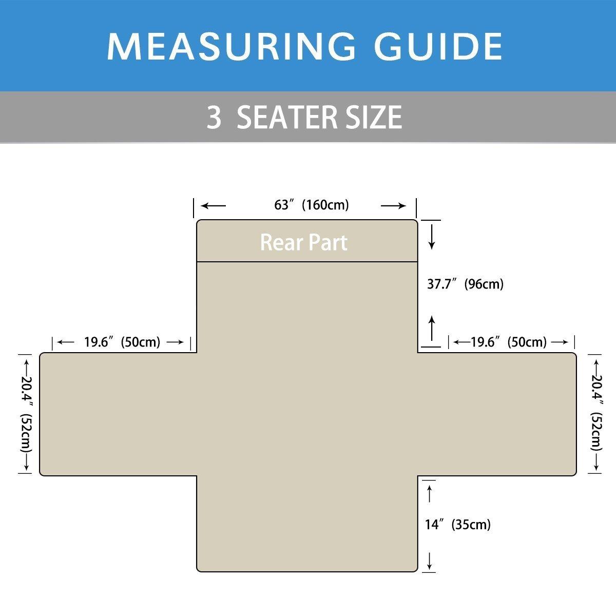 PETCUTE Cubre para Silla Fundas de Sofa Protector de sofá o sillón, Dos o Tres plazas Gris 3 plazas