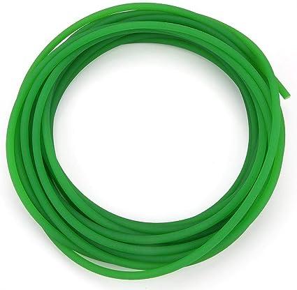 Akozon Cinghia di Trasmissione Cinghia Rotonda in Poliuretano PU con Superficie Ruvida Verde per Trasmissione 15mm*3m