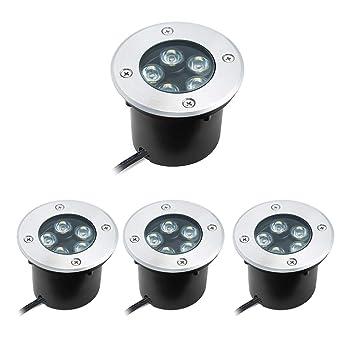 Extrem 5W LED Bodeneinbaustrahler Warmweiß Aussen Einbaustrahler NH22
